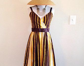 Vintage Handmade Sundress Mid Century Style