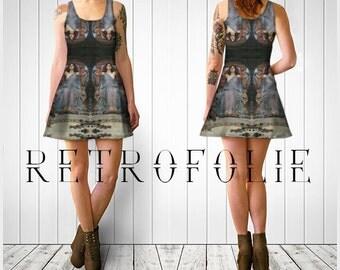 Odysseus Flare Dress, Waterhouse, flare dress by retrofolie