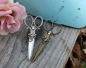 Hair Stylist Scissor Charm Apron or Hair Clip with Rhinestone
