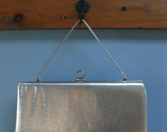 Vintage 1960's Silver Evening Clutch by John Hort of Canada