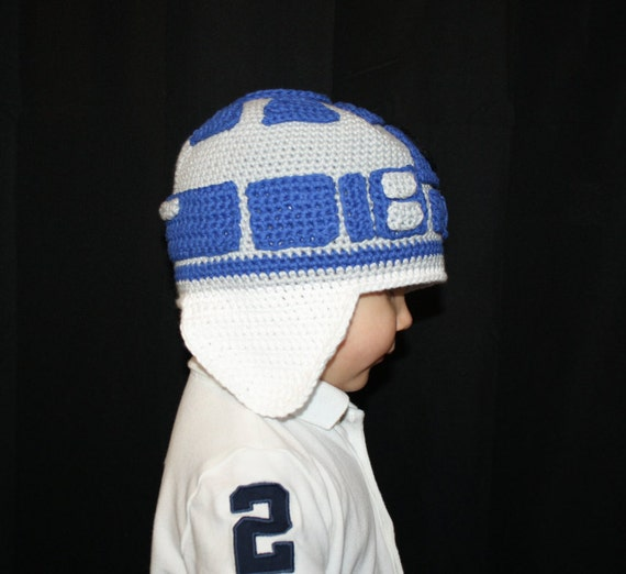 R2d2 Hat Knitting Pattern : Star Wars R2D2 Hat EASY Crochet Pattern PDF - Infant, Toddler, Child, Teen, &...