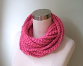 Pink Chain Scarf / Croche...