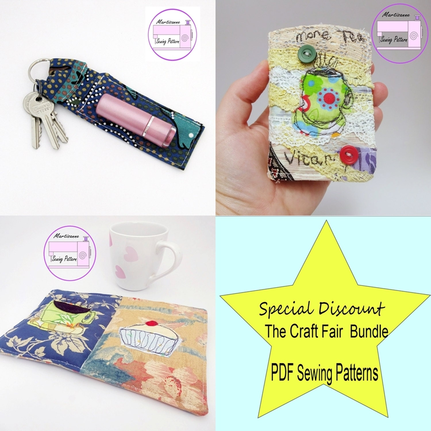 Easy sewing project pdf patterns multi buy pattern for Easy sewing projects for craft fairs