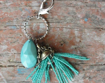 Kuchi Tassel Keychain / Bag Chain with Vintage Materials
