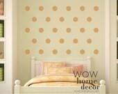 Set of Polka Dots - you pick the size . Vinyl wall art decal. Polka dot wall pattern. Gold Polka Dots