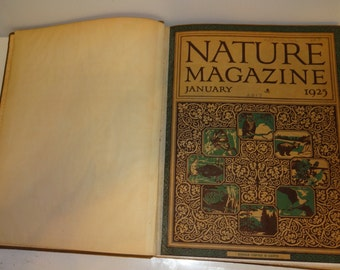 Nature Magazine, Complete Set from 1925, Very Good Binding, Illustrations,Condition REDUCED