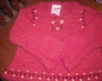 Vintage 24 months girls sweater