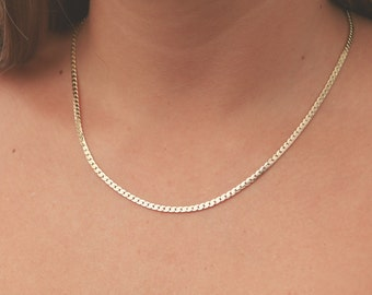 Dainty Gold necklace layered everyday necklace gold chain necklace simple 24k gold plated jewelry.