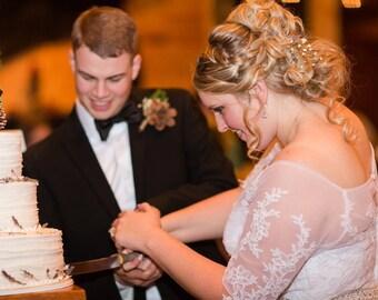 Rustic Wedding Cake Server and Knife Set,  Tree Branch Cake Knife, Tree Branch Cake Server, Rustic Wedding Table Settings,