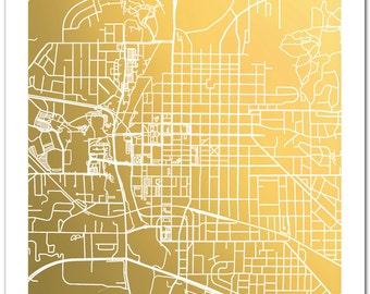 Iowa City Map, Gold Foil Map of Iowa City, Map Print, Gold Foil Print, Iowa City Print, Map Wall Art, Map Decor