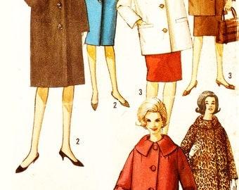 Simplicity 5103 Misses' Vintage 1960s Jacket or Coat Sewing Pattern Sz 14