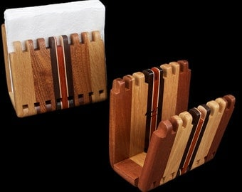 Hardwood Adjustable Napkin Holder