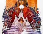 Labyrinth Movie Poster #1 - 8x10 Fabric Block - Great for Quilting, Pillows & Wall Art - Buy 2, Get 1 FREE