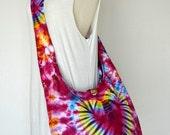 Neon Tie Dye Bag Hippie Bag Hobo Bag Sling Bag Cotton Shoulder Bag Boho Bag Crossbody Bag Sling Bag Purse Messenger Bag Gift Ideas KAT04