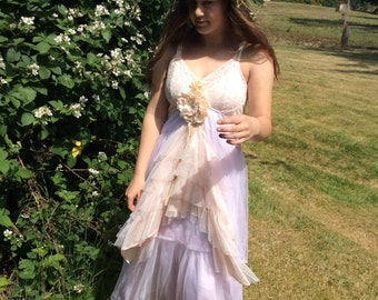 Upcycled Dress Tattered Cinderella Fairytale Fantasy~Sale was 65.00!