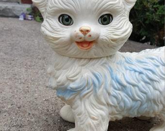 Vintage Edward Mobley Plastic Kitty Kitten Blue