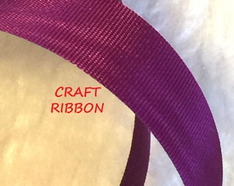 17 YARDS, VIOLET 11/16 Inch, Moire Grosgrain Satin Craft Ribbon, WFR, Acetate, C152