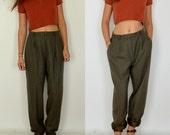 Women's Worsted Wool Pants // Vintage Evan Picone // Size 10