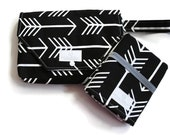 Black Arrow Diaper Clutch with Travel Changing Pad - New Mom Gift - Baby Accessories - Made to Order