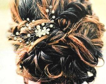 Prague Bridal Hair Comb, Wedding Hair Comb, Pearl and Crystal Hair Comb, Wedding Hair Accessories, Floral Bridal Headpiece