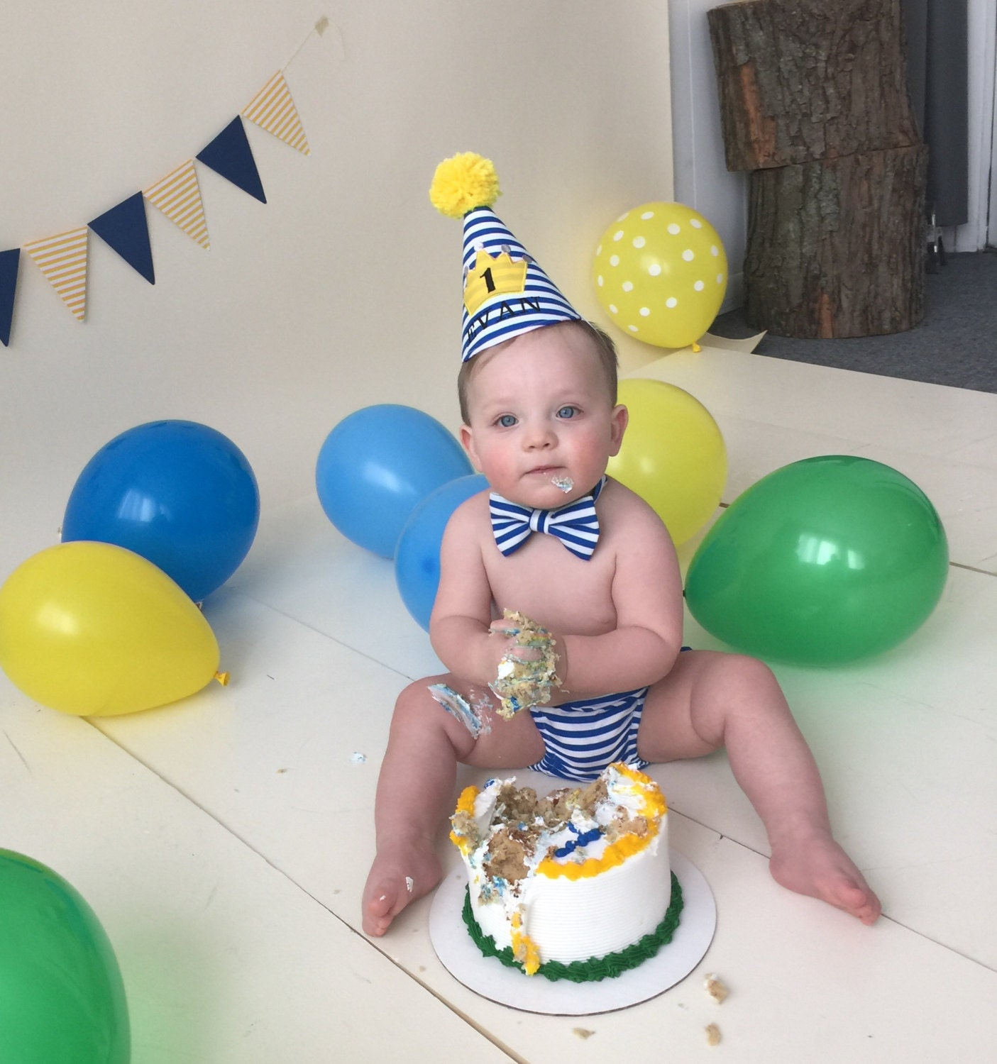 Prince Theme Baby Boy Cake Smash First Birthday Outfit