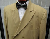 Gangster Style Tan Double Breast Suit w/ Ticket Pocket XL-XXL