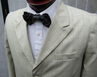 Edwardian/ 20's Style Windowpane Sport Jacket