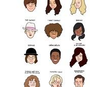 High School Musical Mood Chart Print - Hand-Illustrated