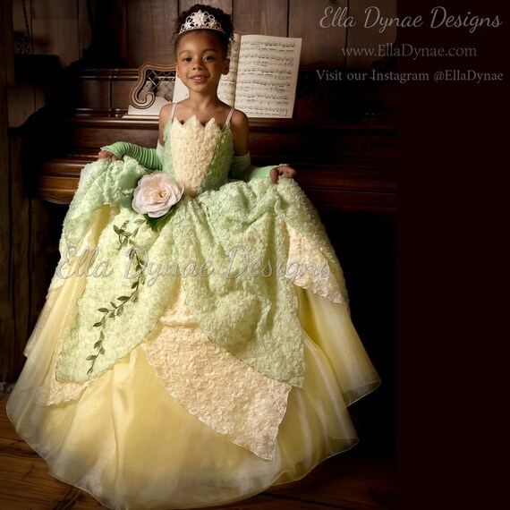 Princess Tiana Dress: Tiana Costume Princess And The Frog Gown Tutu Dress