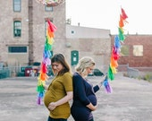 Rainbow Jumbo Confetti Balloon with Tassels - One Stylish Party