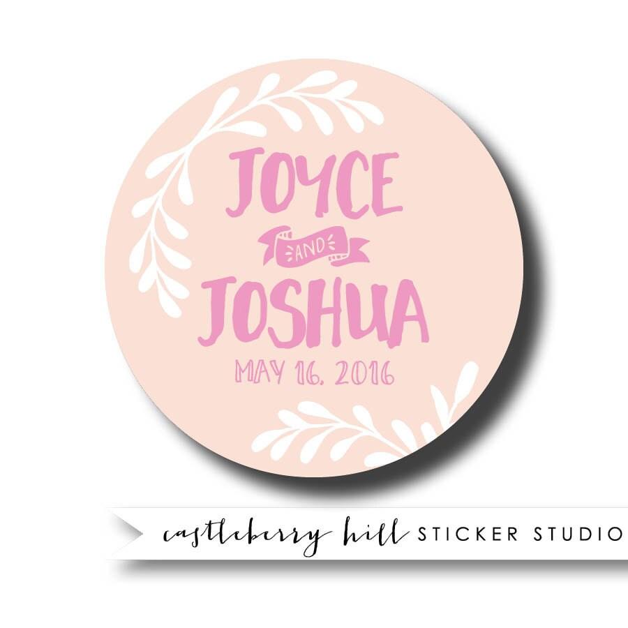 Thank You Wedding Stickers - home decor - Mrsilva.us