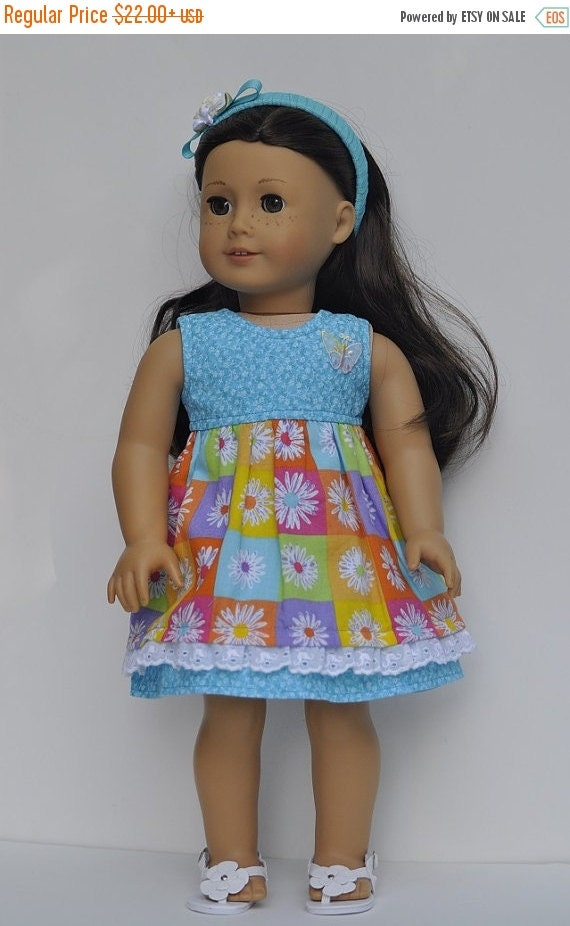 on sale american girl 18 inch doll clothes dress headband shoes. Black Bedroom Furniture Sets. Home Design Ideas