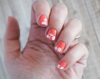 Floral Mix  Nail Decals Stickers