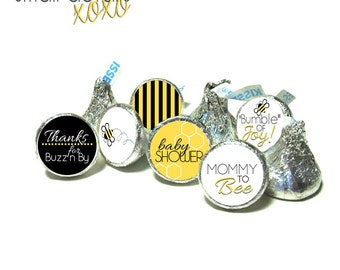 BUMBLE BEE theme stickers  - for Hershey's Kisses® Chocolate, Life Saver® Mints, Rolo®- Baby Shower