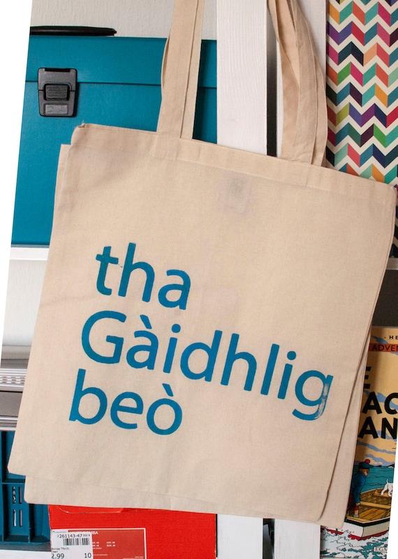 Baga Gàidhlig // Scottish Gaelic tote bag, screenprinted & fairtrade