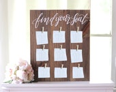 Rustic Wedding Seating Chart Sign, Find Your Seat, Wedding Sign, Rustic Wooden Wedding Sign
