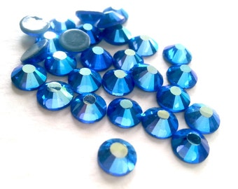 144 pcs. or 1440 pcs. /AB Sapphire SS06 Hot Fix (Hotfix) Iron On Heat Transfer Glue On Crystal Rhinestones  2mm