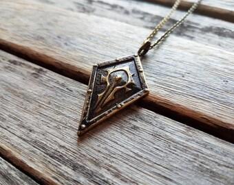 World of Warcraft (WoW) - Horde Crest Shield Pendant Necklace - Nerdy Valentine or Gamer Girl gift idea - Horde Sigil - Horde Symbol - Orcs