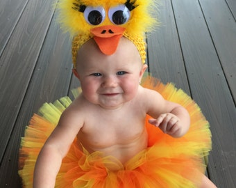 Rubber Ducky Tutu Costume, Yellow Chick Tutu Costume, Yellow Bird Costume, Duck Costume, Tutu Halloween Costume, Infant Toddler Halloween,