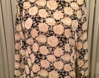 Vintage 1990's J. G. Hook Floral Blouse