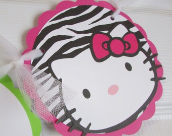 Hello Kitty Inspired Happy Birthday Banner