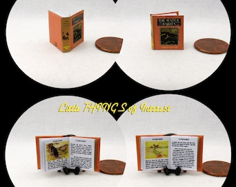WATER BABIES Miniature Book Dollhouse 1/12 Scale Book Readable Illustrated Book
