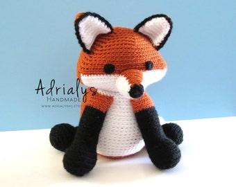 Crochet Red Fox- Stuffed Red Fox- Red Fox Plush- Woodland Animals- Forest Animals- Handmade Fox- Crochet Toy- Amigurumi- Made to Order