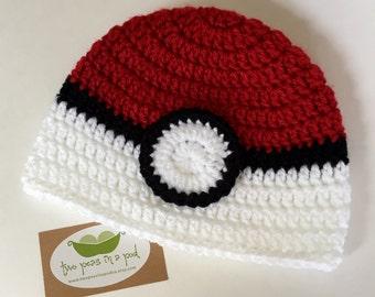 Free Crochet Pattern Pokemon Hat : Pokemon hat Etsy
