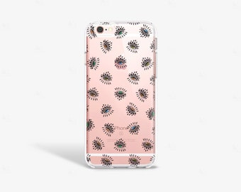 Envy Eye iPhone Case Clear Evil Eye iPhone 7 Case Bohemian iPhone Case Evil Eye iPhone 7 Plus Case Envy Eye Samsung Galaxy S7 Edge Case