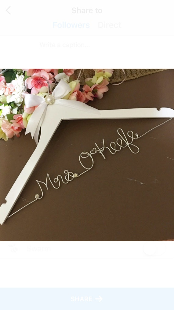 FAST SHIPPING Personalize Bridal Hanger Wedding by