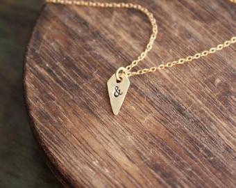 Tiny Ampersand Necklace