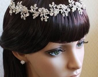 Bridal Hair Piece, Bridal Crown, Crystal Tiara, Bridal Comb Tiara, Bridal Hair Accessories, Bridal Jewelry, Bridal Crown, Wedding Jewelry