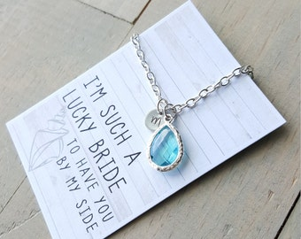 Pool Beach Wedding Necklace, Bridesmaid Gift, Beach Jewelry