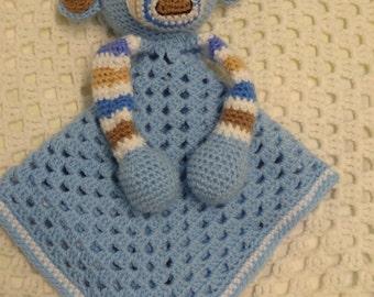 Lovey, Monkey Lovey, Security Blanket, Baby Boy Gift, Baby Gift, Crochet Lovey